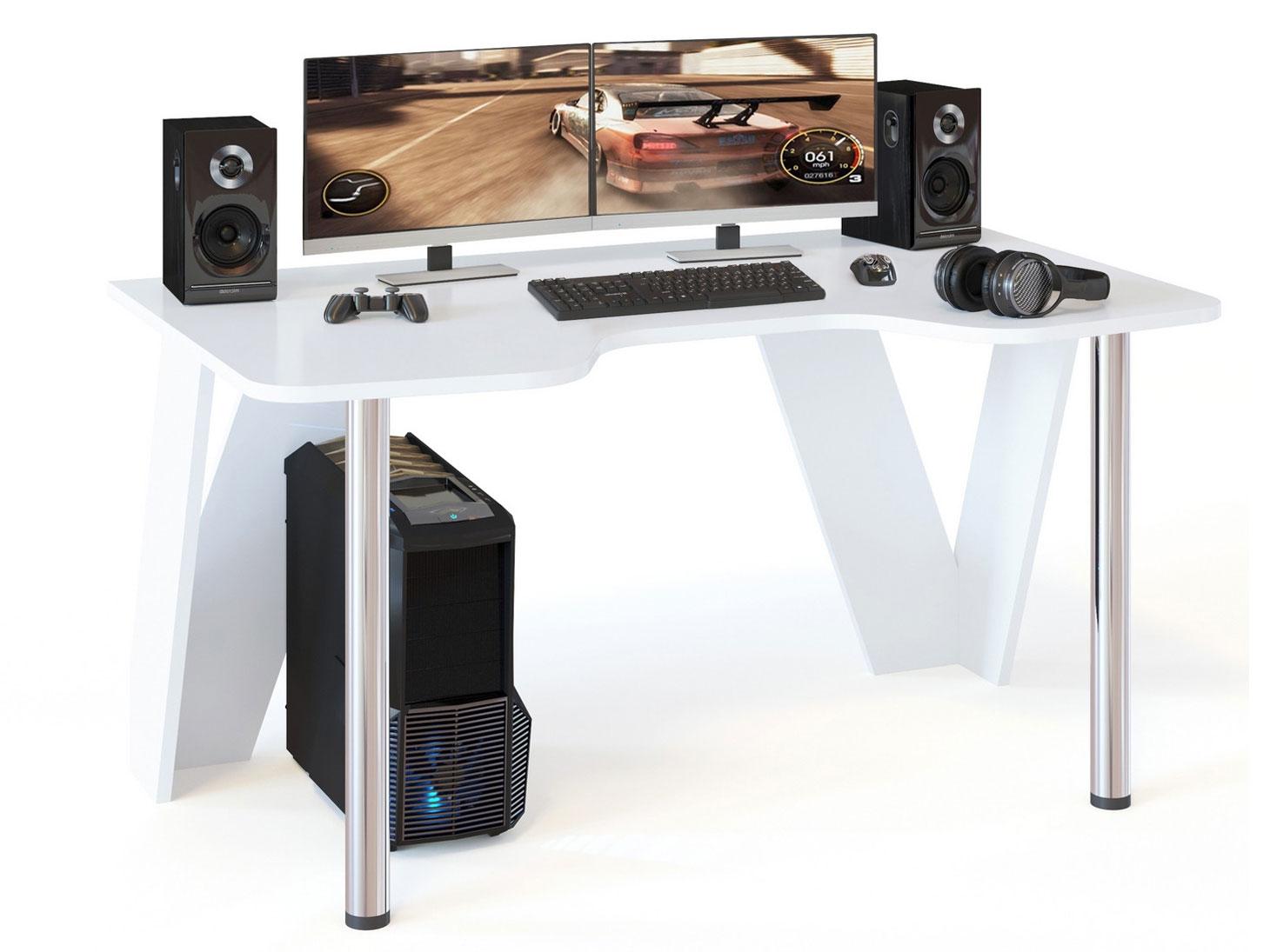 Игровой компьютерный стол Сокол КСТ 116 Белый
