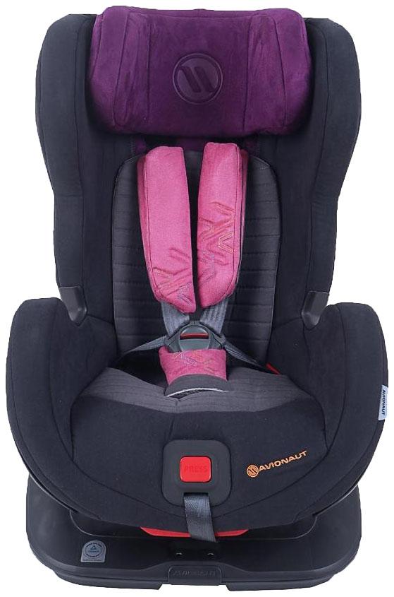 Детское автокресло Avionaut Glider Softy Isofix черный/фиолетовый 9-25 кг