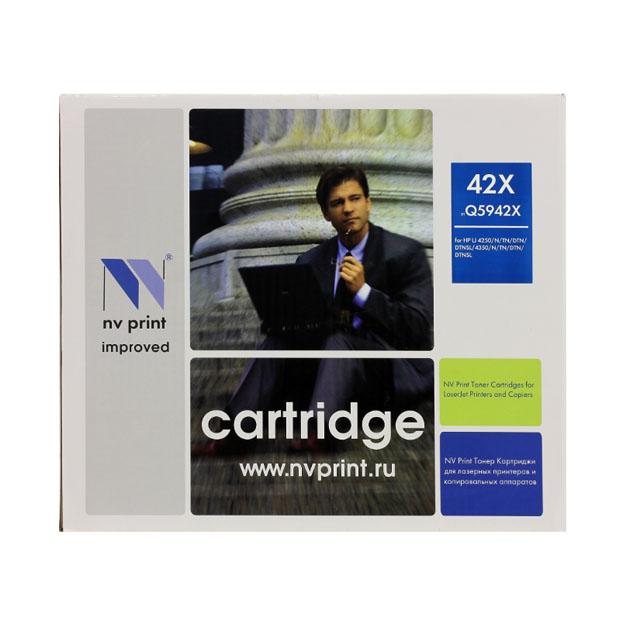 Картридж для лазерного принтера NV Print Q5942X, черный NV-Q5942X