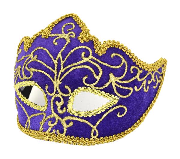 Купить Маска карнавальная Winter Wings фиолетовая расписная, Карнавальные головные уборы
