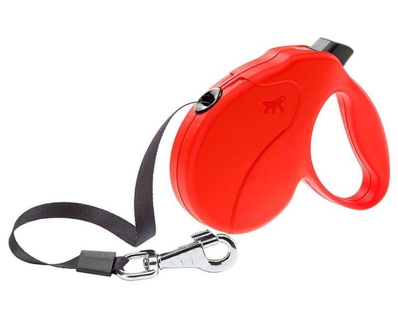 Рулетка Ferplast Amigo Tape для собак (M: 5 м (до 25 кг), Красный)