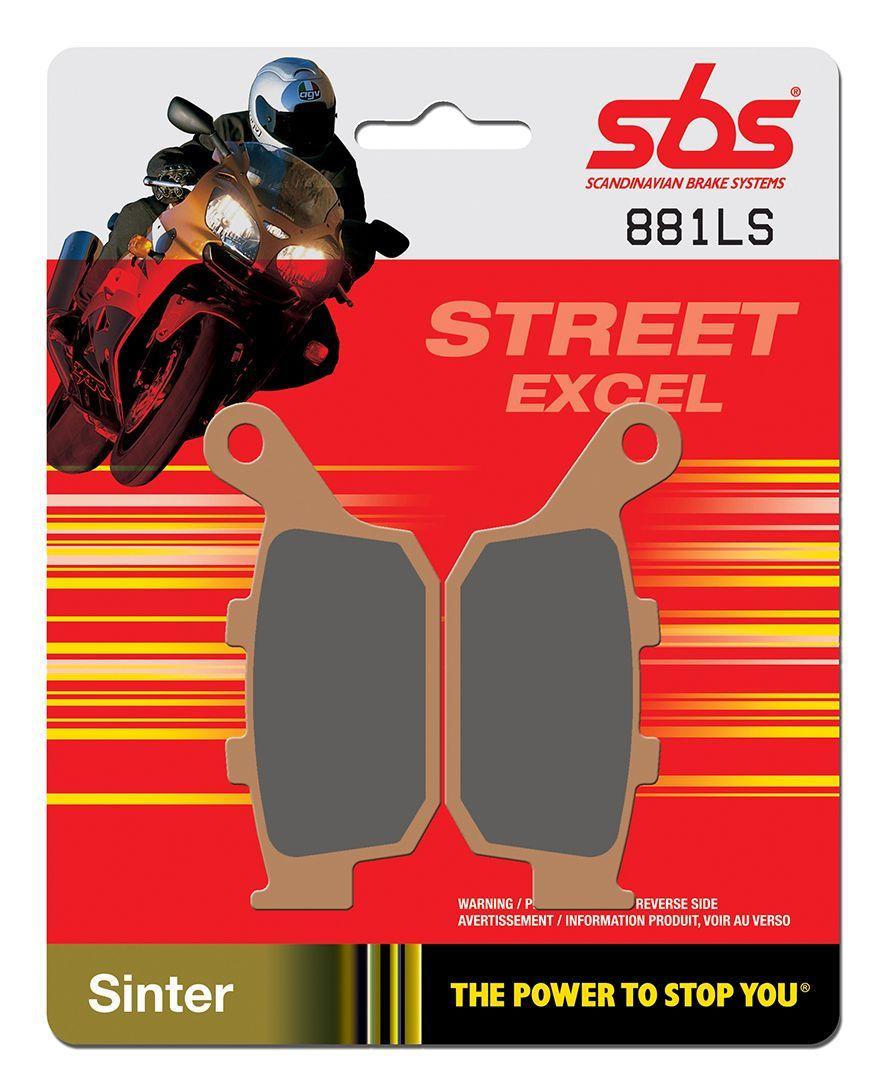 Тормозные колодки задние SBS 881LS для мотоциклов