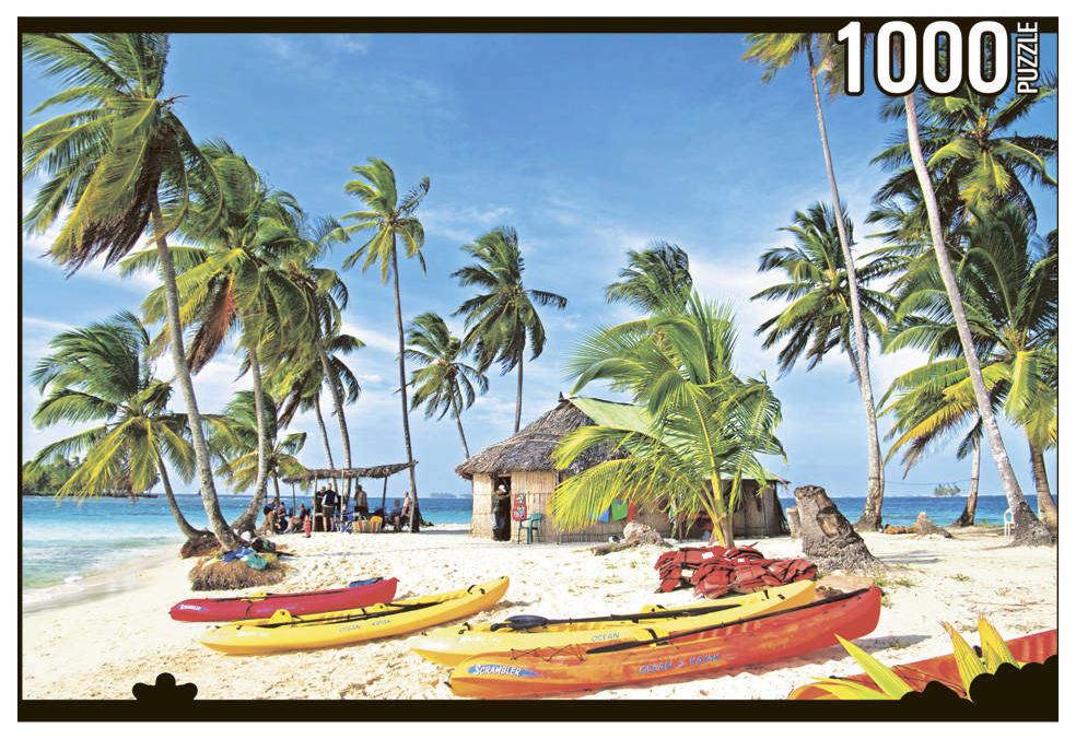 Купить Пазл Konigspuzzle Лодки на острове КБК1000-6457 1000 деталей, Königspuzzle, Пазлы