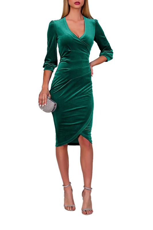 Платье женское FABIEN DE FERANTE 1935 зеленое 50 RU фото