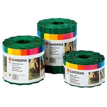 Бордюр зеленый Gardena 9 см длина 9 м по цене 762
