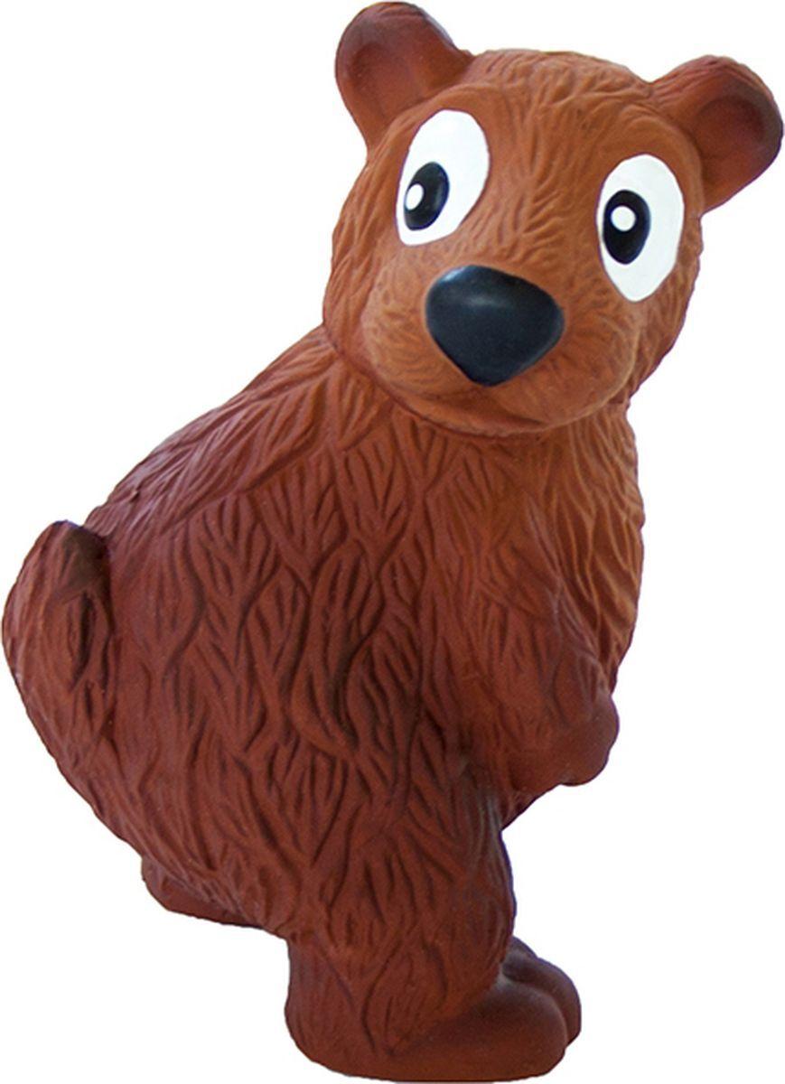 Игрушка пищалка для собак Petstages Медведь, коричневый,