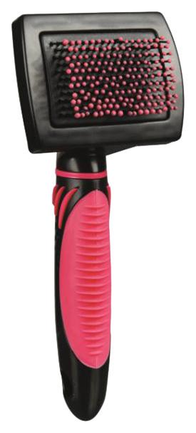 Расческа для кошек TRIXIE пластик, цвет черный, розовый