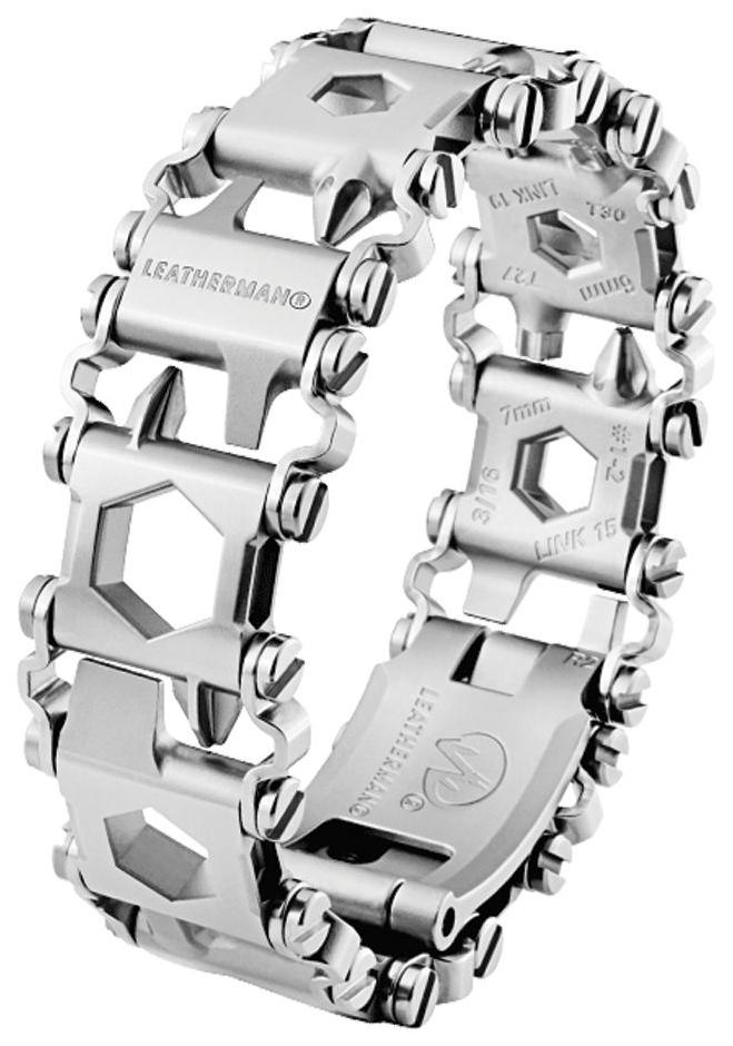 Браслет-мультитул Leatherman Tread LT 832431 160 мм серебристый, 29 функций фото