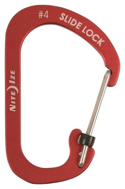 Карабин алюминиевый Nite Ize SlideLock #4 CSLA4-10-R6 Red