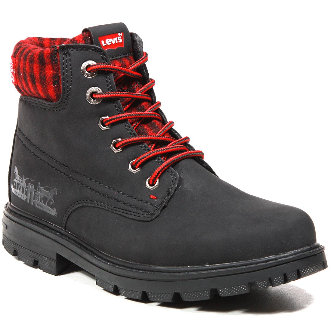 Купить Ботинки детские VFOR0010S Black Red 0178 Levi's Kids р.36, Детские ботинки