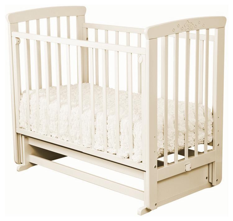 Купить Кровать детская Красная Звезда Марина С 702 резьба № 15 Ваниль, Красная звезда, Классические кроватки