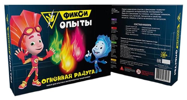 Купить Набор для исследования Фикси опыты Огненная радуга 855пл, Инновации для детей, Наборы для опытов