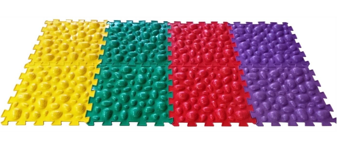Купить Массажный коврик ОРТО ПАЗЛ, Микс Морские Камни , ОртоПазл, Развивающие коврики и центры