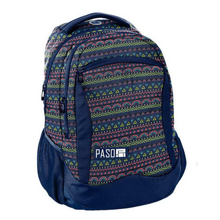 Рюкзак детский PASO Student ethnic ornament blue