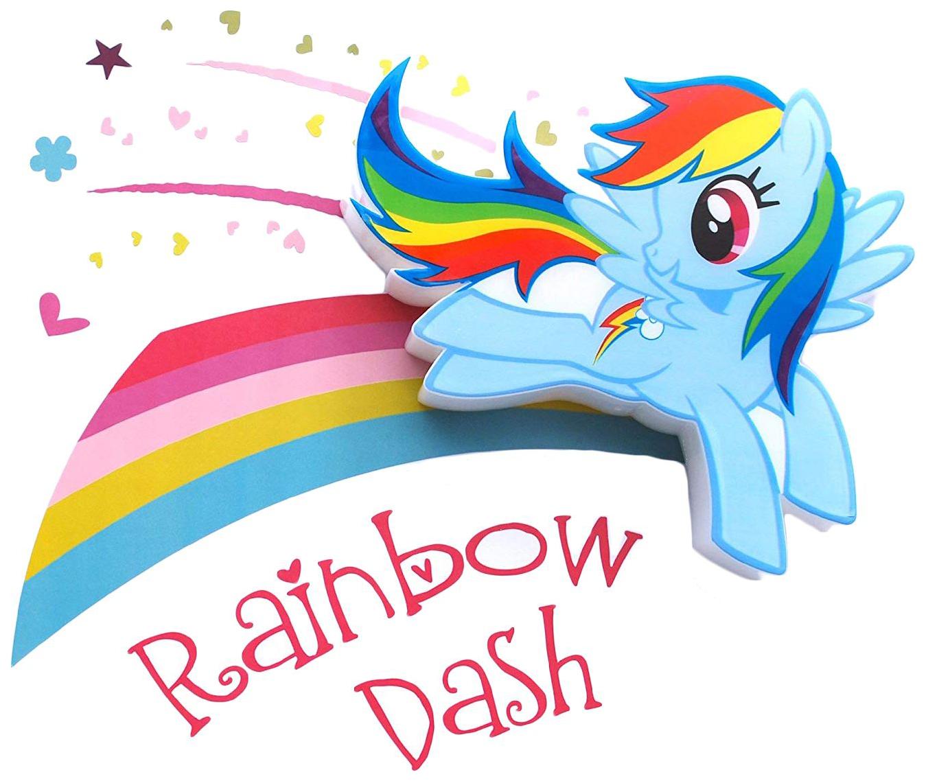 Светильник 3DLightFX MLP Mini Rainbow Dash фото