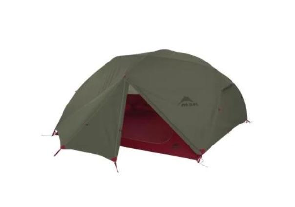 Палатка MSR Elixir с увеличенным тамбуром четырехместная зеленая