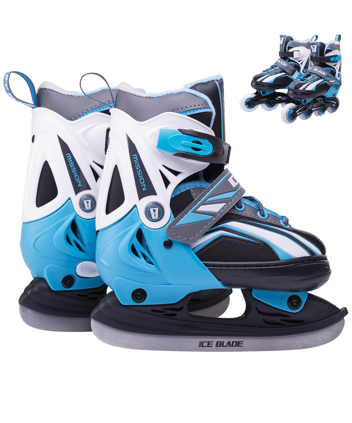 Купить Коньки-ролики раздвижные Ice Blade Mission 2 в 1 2019, размер 26-29, Детский спортивный инвентарь