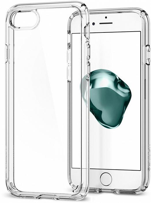 Чехол Spigen Ultra Hybrid 2 (042CS20927) для iPhone 7 (Crystal Clear)