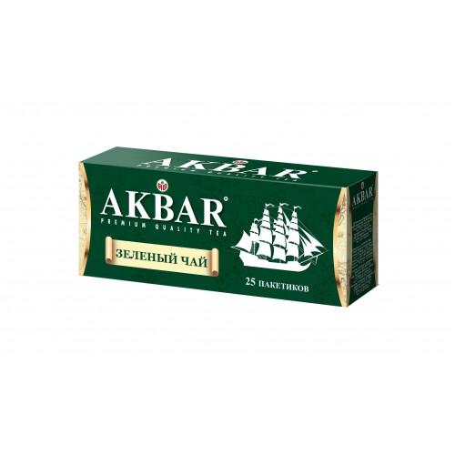 Чай зеленый Akbar корабль 25 пакетиков фото