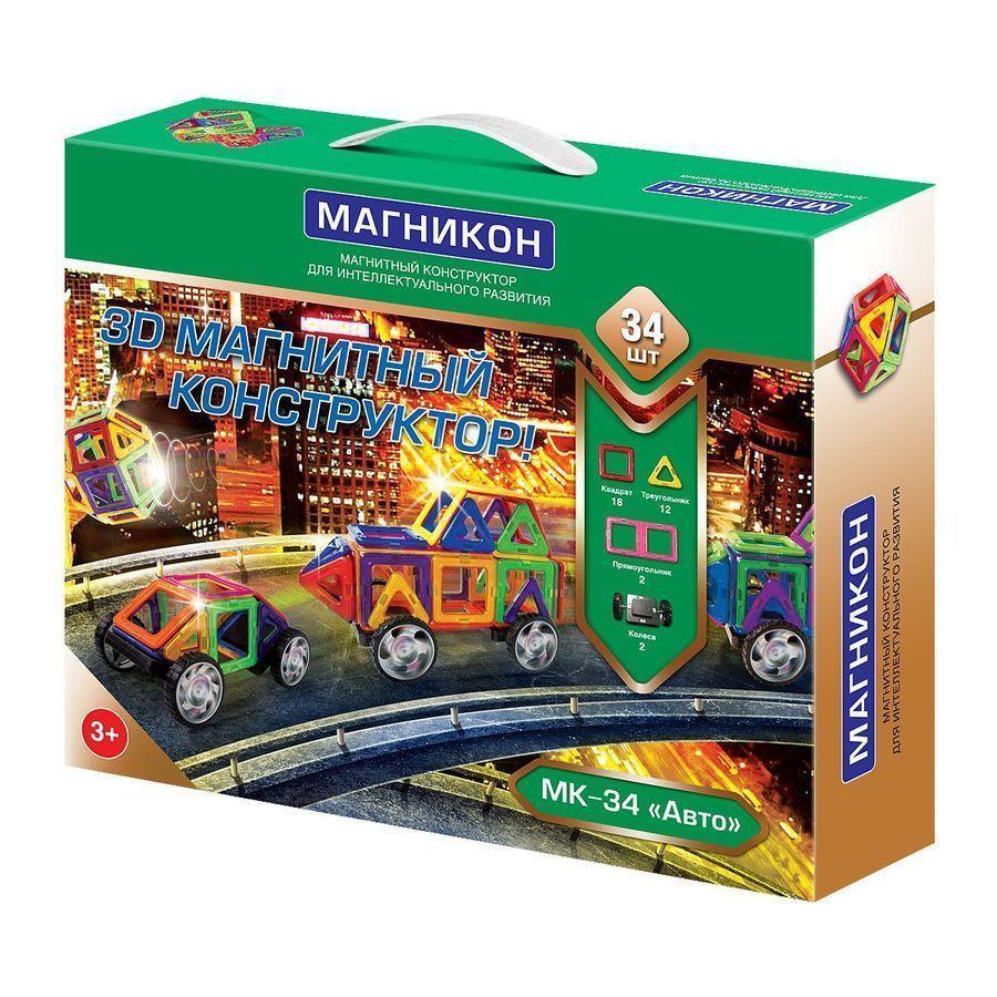 Конструктор магнитный Магникон МК-34 Авто