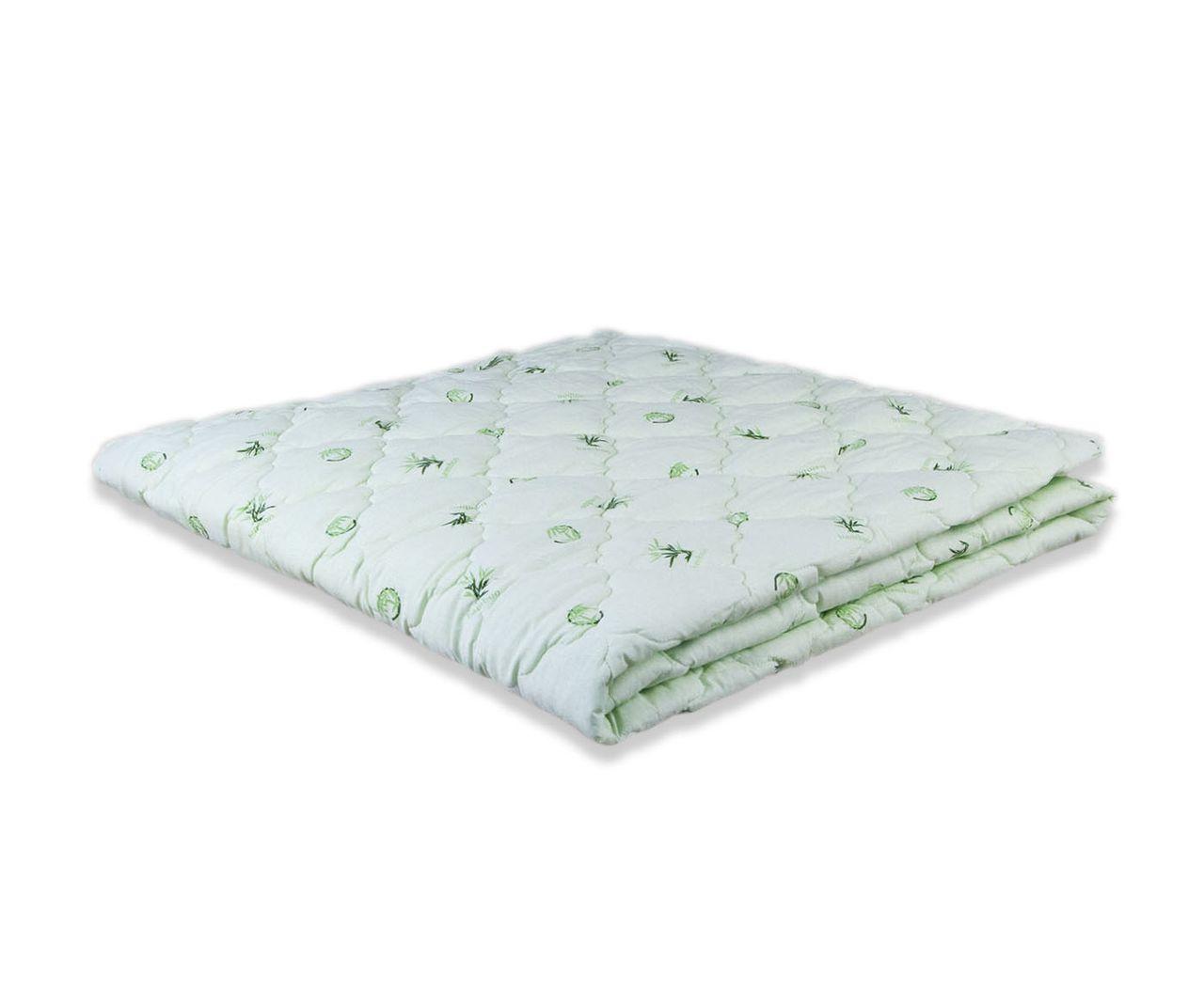 Одеяло облегченное МИ салатовое с принтом