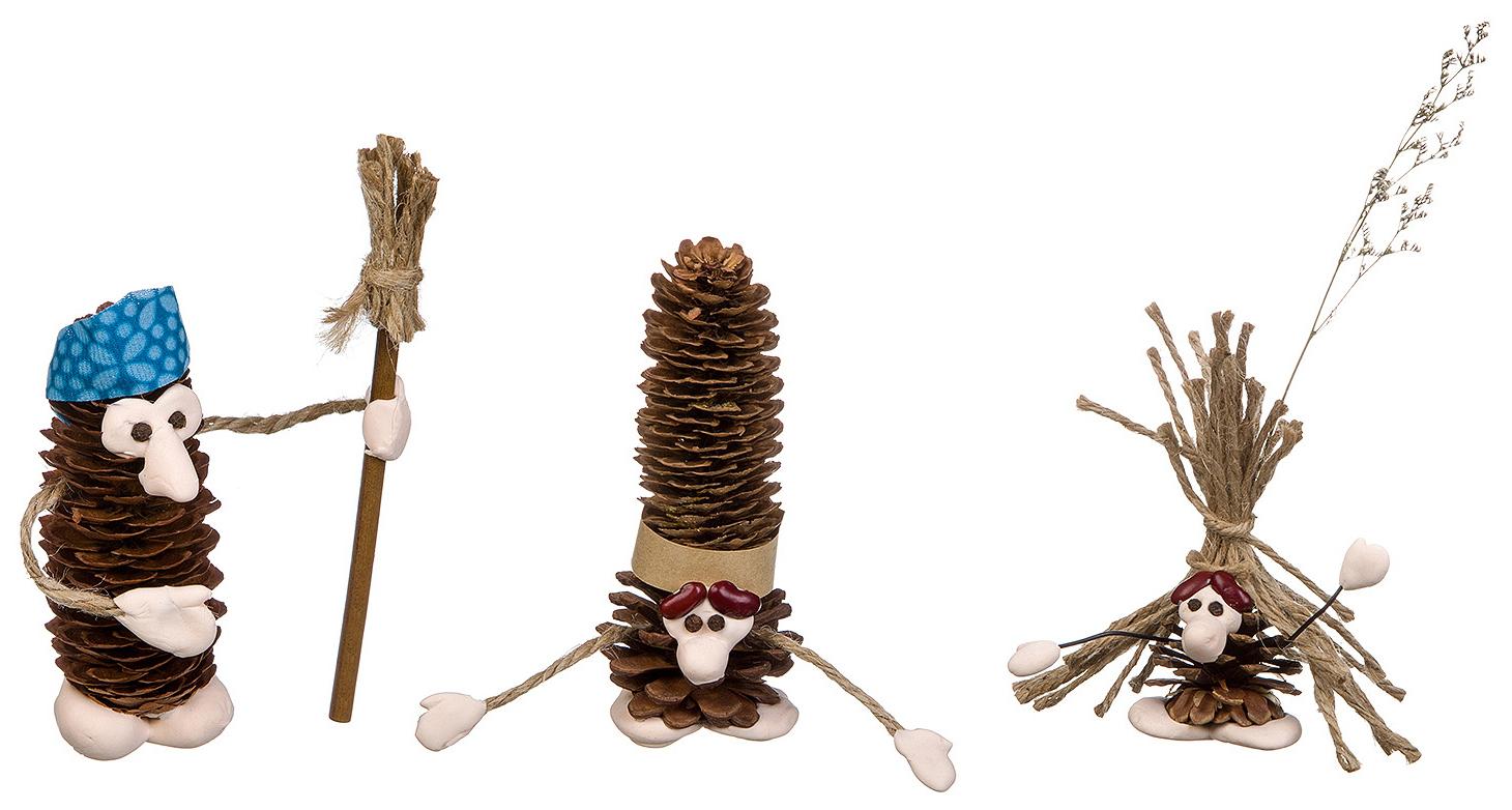 Набор для творчества Bondibon поделка из шишек сказочные создания ВВ2726 фото