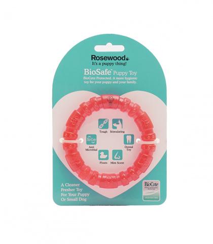 Жевательная игрушка для собак Rosewood BioSafe кольцо, розовый, 9 см