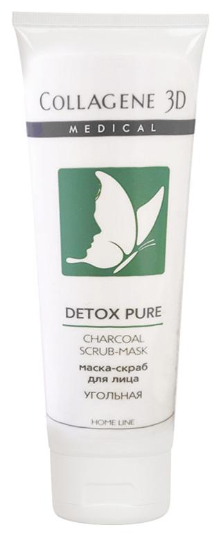 Купить Маска-скраб для лица угольная Medical Collagene 3D Detox Pure 75 мл