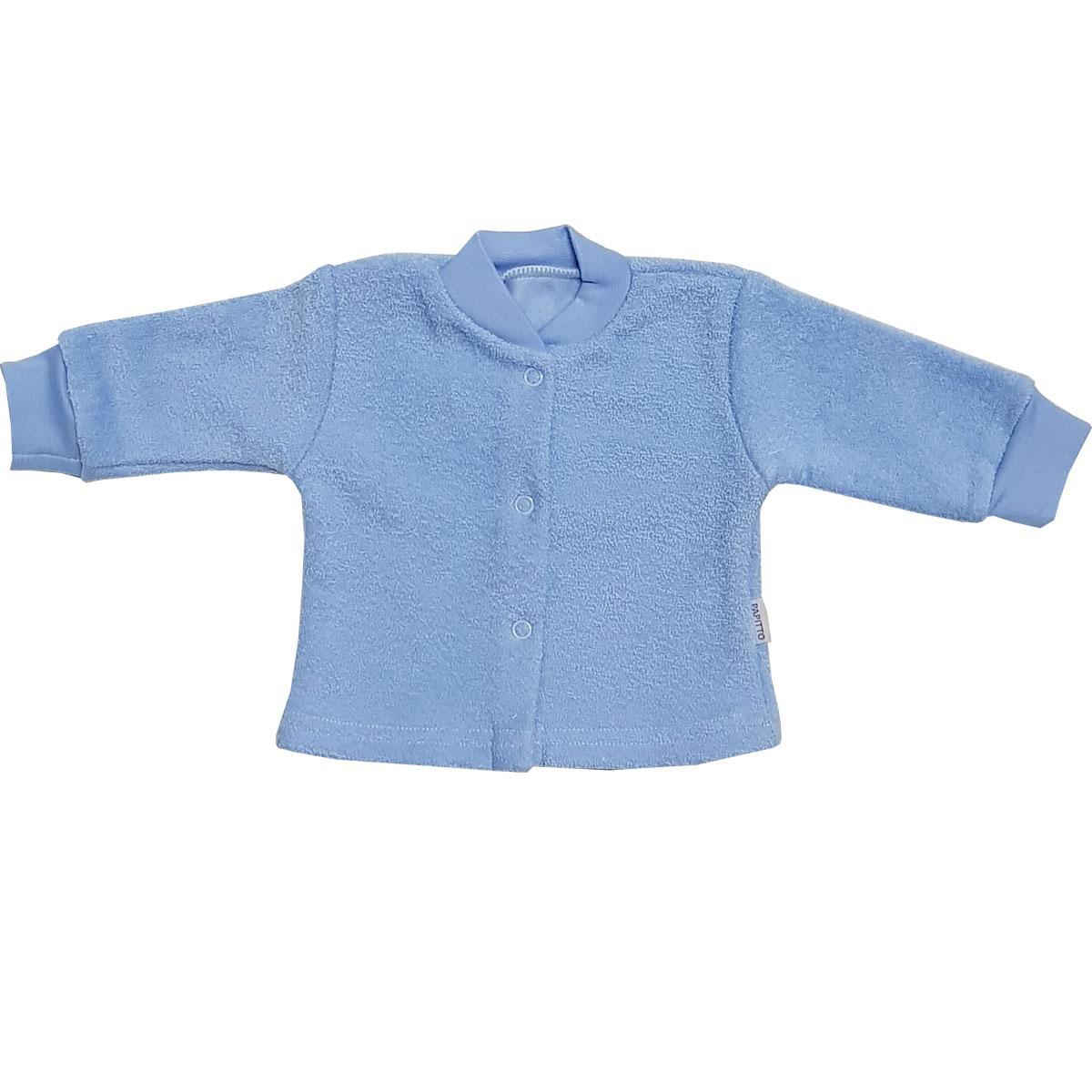 Купить И93-201, Кофта детская Папитто на кнопках голубой с начесом р.18-50, Кофточки, футболки для новорожденных