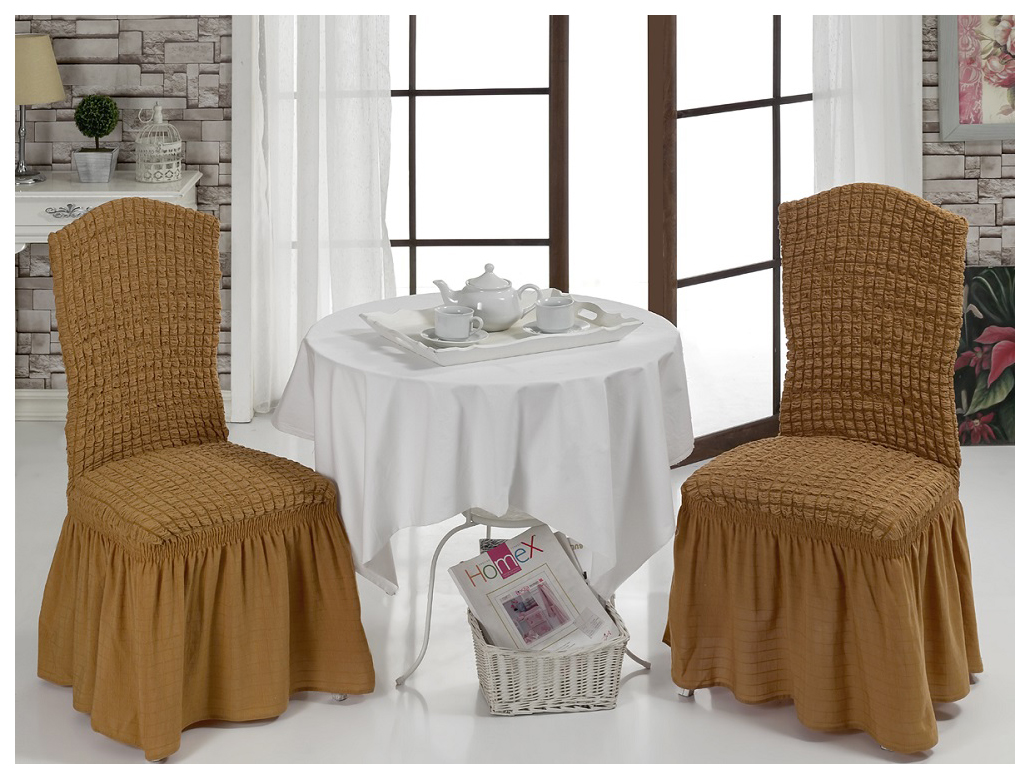 Чехол для стула Karna Bet Натурал