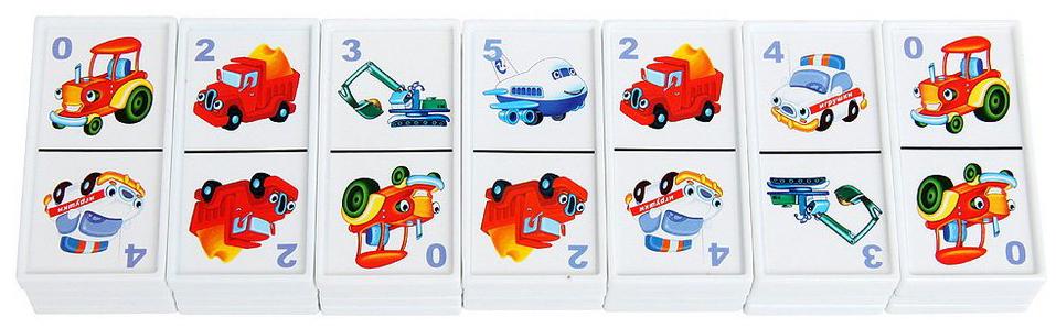 Купить Домино №17 В небе, на земле, на море , STELLAR, Развивающие игрушки