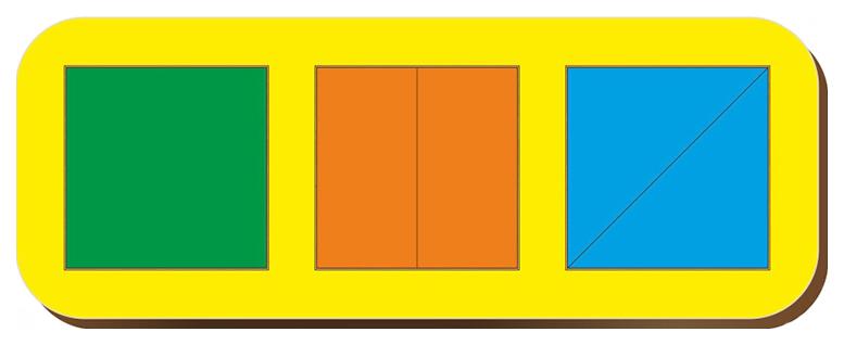 Рамки-вкладыши Woodland Сложи квадрат Никитин 64101 3 квадрата уровень 1 фото