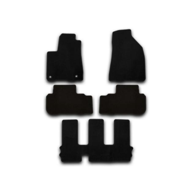 Коврики в салон Klever Premium для TOYOTA Highlander 2010-2013, 5 шт. текстиль
