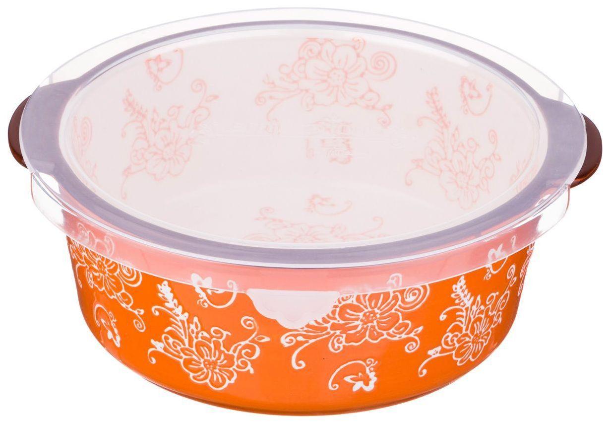 Блюдо для запекания Agness 536-183 с пластиковой крышкой