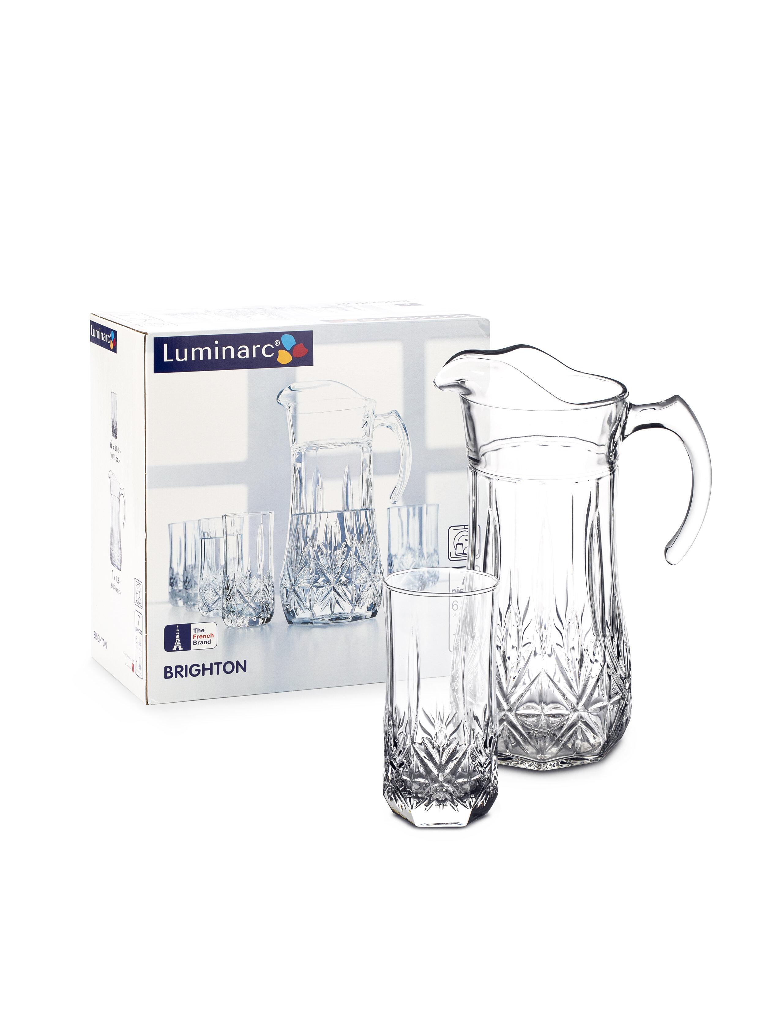Набор стаканов и кувшин Luminarc Brighton 7 предметов