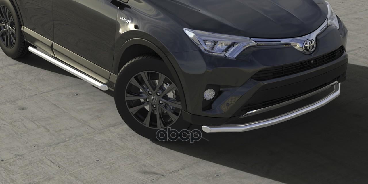Защита переднего бампера Arbori для Toyota RAV4 от 2015, хром