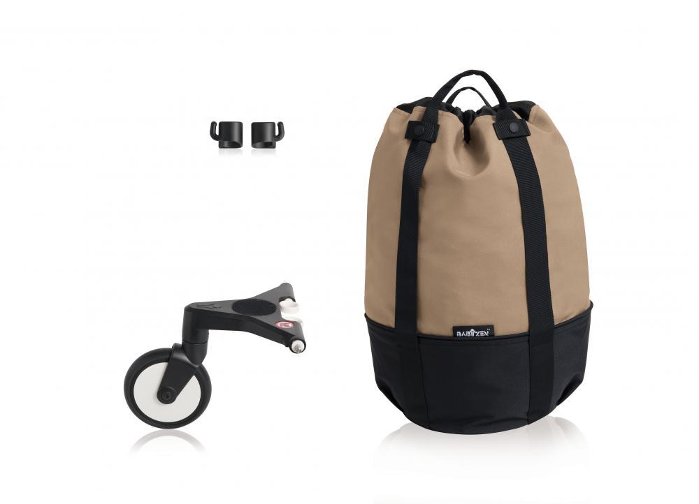 Купить Сумка для коляски Babyzen yoyo+ с колесом-платформой taupe, Сумки и пеналы для коляски
