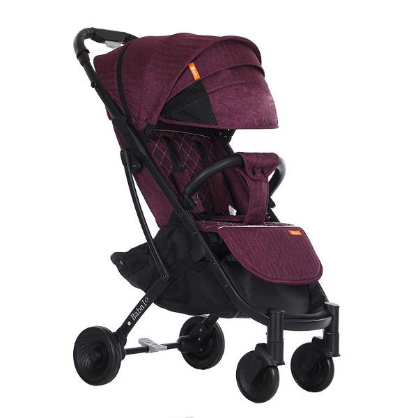 Купить Прогулочная коляска Babalo Yoya Plus 4 фиолетовая черная рама, BABALUNO, Коляски книжки