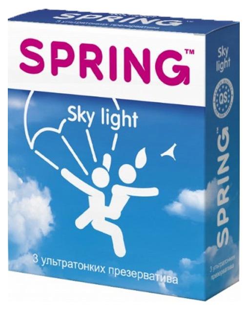 Купить Презервативы Spring Sky Light 3 шт.