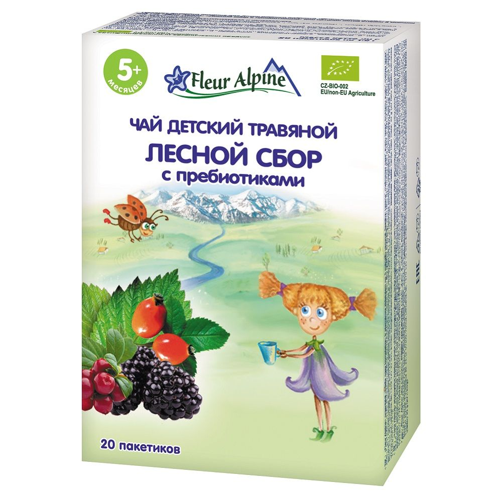 Чай травяной Fleur Alpine Органик Лесной сбор с пребиотиками, 5 мес., 30/8