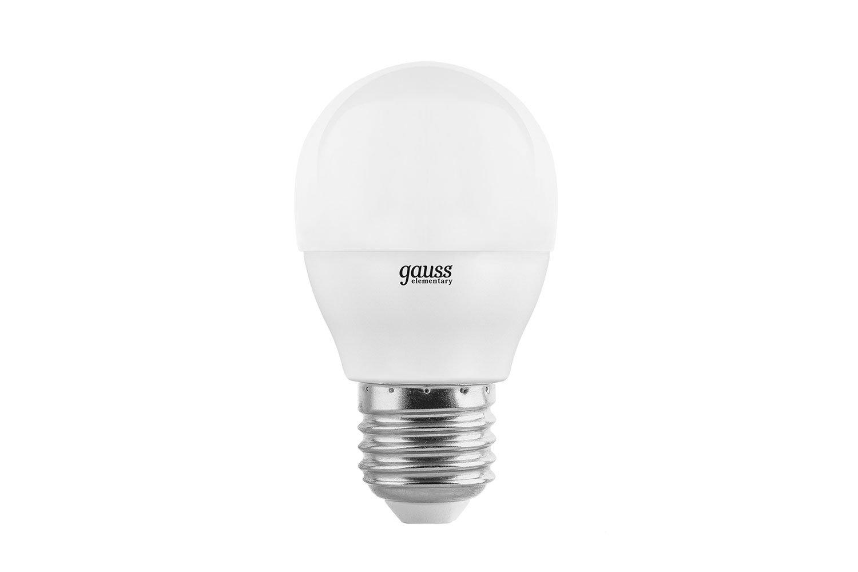 Лампочка Gauss Elementary G45 E27 8W 2700K 53218