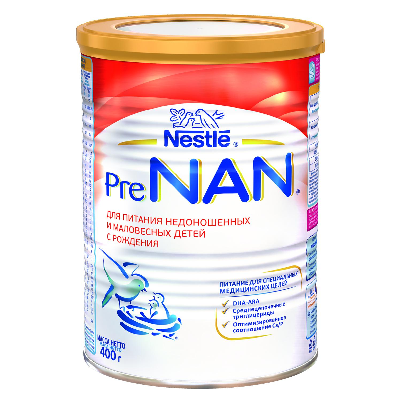 Купить Молочная смесь 1 (от 0 до 6 мес.) NAN Pre Для недоношенных детей 400 г, Детские смеси 1 (с рождения)