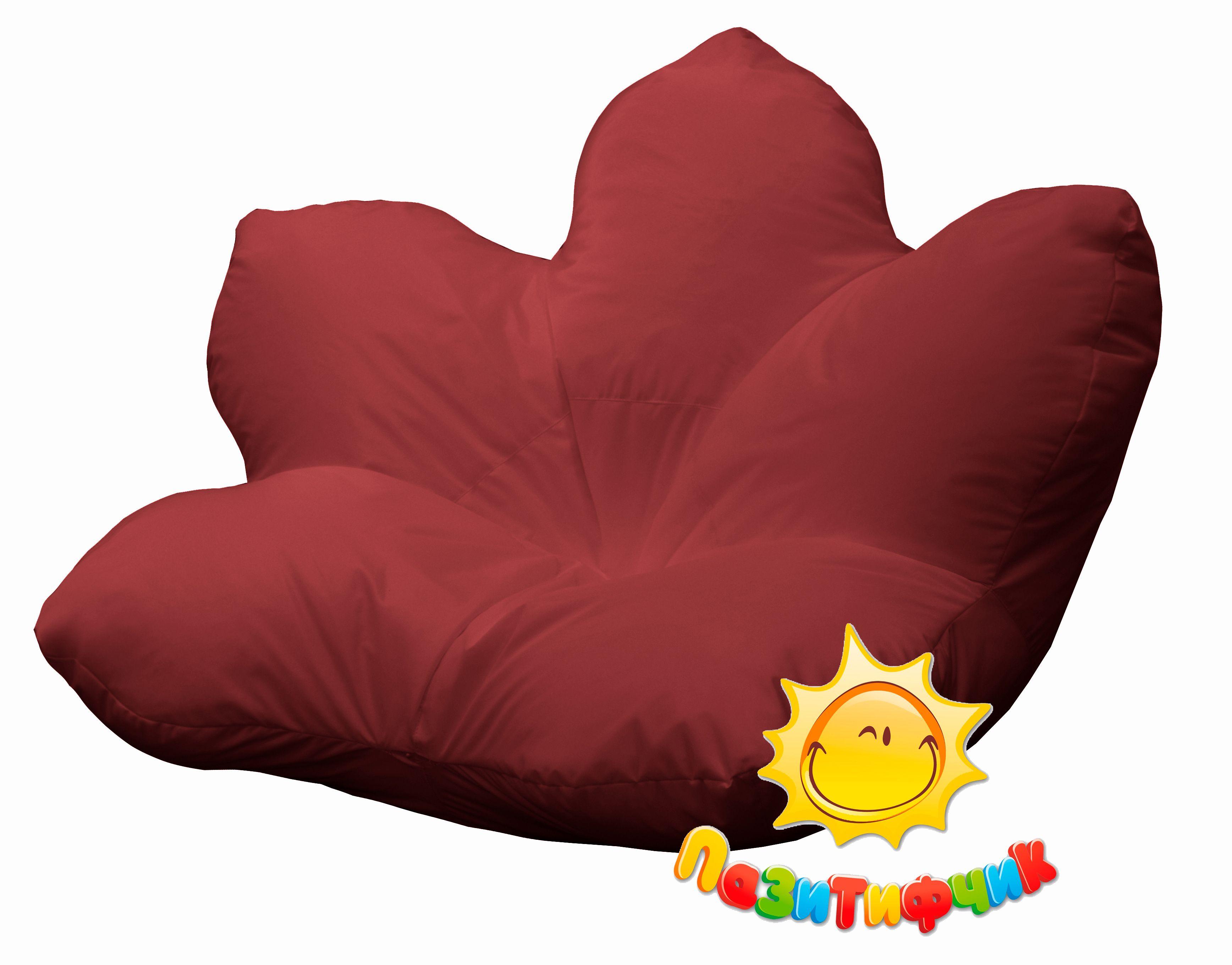 Кресло-мешок Pazitif Цветок Пазитифчик, размер XXXL, оксфорд, бордовый фото
