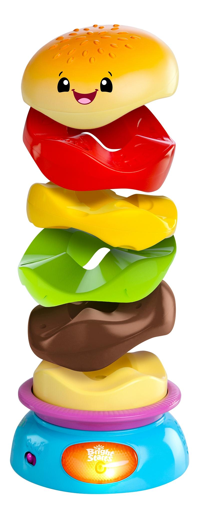 Купить Развивающая игрушка-пирамидка Bright Starts Веселый бутерброд, Развивающие игрушки
