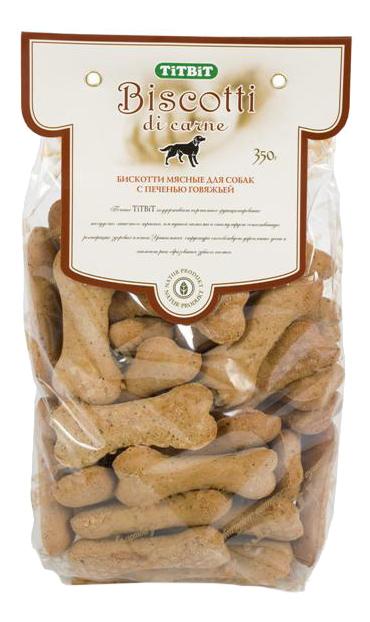 Лакомство для собак TiTBiT, печенье Бискотти с печенью говяжьей, 350г