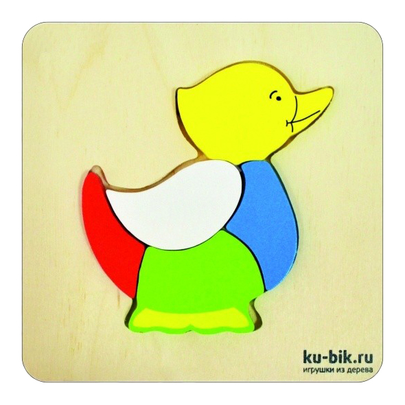 Деревянная игрушка для малышей Alatoys Уточка