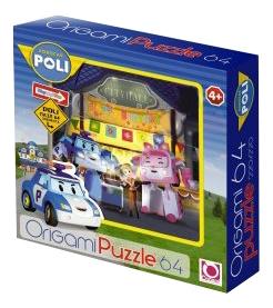 Купить Robocar 64 детали, Пазл Origami машина 64 детали,
