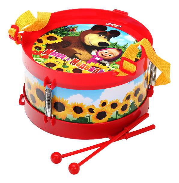 Купить Барабан игрушечный Играем вместе Маша и Медведь, Играем Вместе, Детские музыкальные инструменты