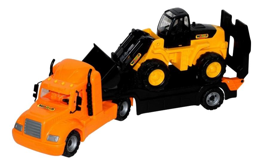 Автомобиль-Трейлер + Трактор-Погрузчик Полесье Майк