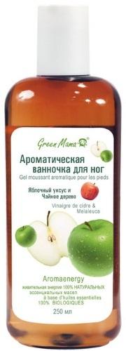 Ванночка для ног GREEN MAMA Яблочный уксус и чайное дерево, 250мл